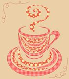 Patchwork coffee cup 2. Royalty Free Stock Photography