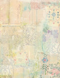 Patchwork collage of vintage papers Royalty Free Stock Photos