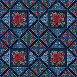 Patchwork colorful roses seamless pattern texture Royalty Free Stock Photography