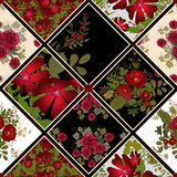 Patchwork colorful seamless pattern Stock Photos