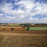 Patchwork countryside at Burford. UK Stock Photos