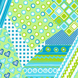 Patchwork cover for baby boy Stock Image