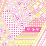 Patchwork cover for baby girl Stock Images