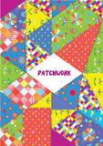Patchwork cover or placard - funny design Royalty Free Stock Image