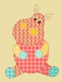 Patchwork d'hippopotame Image libre de droits