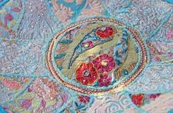 Patchwork de l'indium Places colorées par broderie d'Inde La MU intelligente photos libres de droits