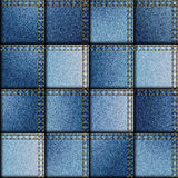 Patchwork de tissu de denim Photos libres de droits