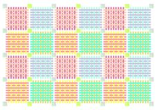Patchwork - Decorative Background Royalty Free Stock Photography