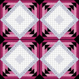 Patchwork decorative seamless pattern  background with bright elements. Stock Photography