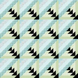 Patchwork decorative seamless pattern  background with bright elements. Royalty Free Stock Photography