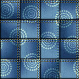 Patchwork of denim fabric Royalty Free Stock Image
