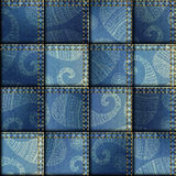 Patchwork of denim fabric Royalty Free Stock Photo