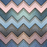 Patchwork of denim fabric Stock Photo