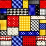 Patchwork in der Kubismusart stock abbildung