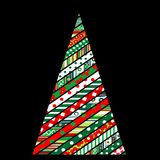 Patchwork design of Christmas tree Stock Photography