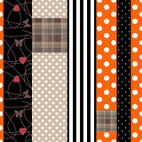 Patchwork design pattern background with decorative elements Stock Photo
