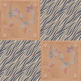Patchwork design seamless floral pattern background Stock Photo