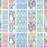Patchwork design seamless pattern ornament background Royalty Free Stock Photography