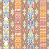 Patchwork design seamless pattern ornament pastel colors backgro Stock Photos
