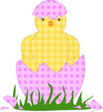Patchwork Easter Chicken Royalty Free Stock Images