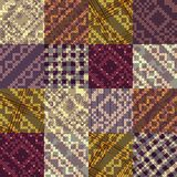 Patchwork with embroidery pattern. Stock Images