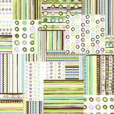 Patchwork fabric background Royalty Free Stock Photo