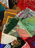 Patchwork fabric background texture Royalty Free Stock Images