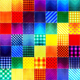 Patchwork of fabric in rainbow colors Royalty Free Stock Photography