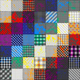 Patchwork of fabric in rainbow colors Royalty Free Stock Photos