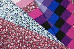 Patchwork Fabrics Royalty Free Stock Image