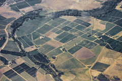 Patchwork of farm land Stock Photography