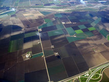 Patchwork Farming land. Aerial Salinas Valley, CA Royalty Free Stock Image