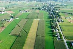 Patchwork Farmland Aerial Royalty Free Stock Image