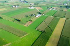 Patchwork Farmland Aerial Royalty Free Stock Images