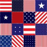 Patchwork flaga amerykańska Fotografia Royalty Free
