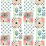 Patchwork floral pattern background Stock Images