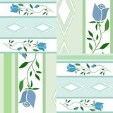 Patchwork floral pattern background with decorative elements Royalty Free Stock Photography