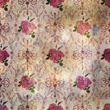 Patchwork floral roses pattern background with decorative elemen Royalty Free Stock Image
