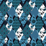 Patchwork floral seamless pattern texture background Stock Photography