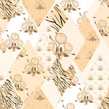 Patchwork floral seamless pattern texture background Stock Image