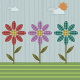 Patchwork flowers Royalty Free Stock Photos