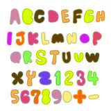 Patchwork font. There is colorful patchwork font Stock Photo