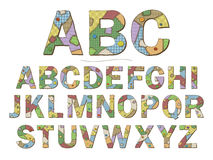 Patchwork Font Stock Photos