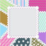 Patchwork frame Royalty Free Stock Photography