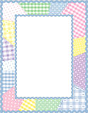 Patchwork Frame, Pastels Stock Photo