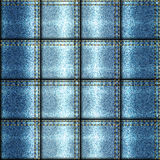 Patchwork frayed jeans. Seamless background pattern. Patchwork in denim style Stock Photo