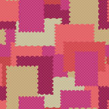 Patchwork geometric abstract bright elements seamless pattern Royalty Free Stock Photo