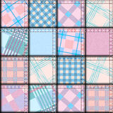 Patchwork in geometric style Stock Image