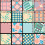 Patchwork in geometric style Royalty Free Stock Image