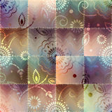Patchwork with gradient effect Royalty Free Stock Photography